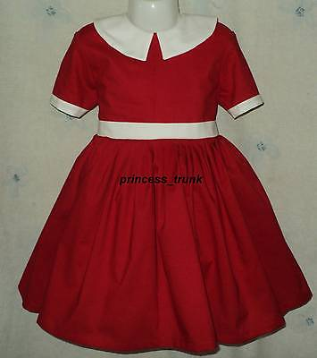 Halloween Little Girl Movie (NEW VHTF Movie Little Orphan Annie Red Dress 4 Halloween/Stage Play Sz)