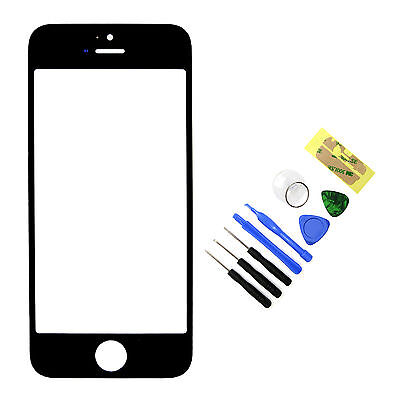 New Black Front Outer Screen Glass Lens Replacement For iPhone 5 5S + Tools on Rummage