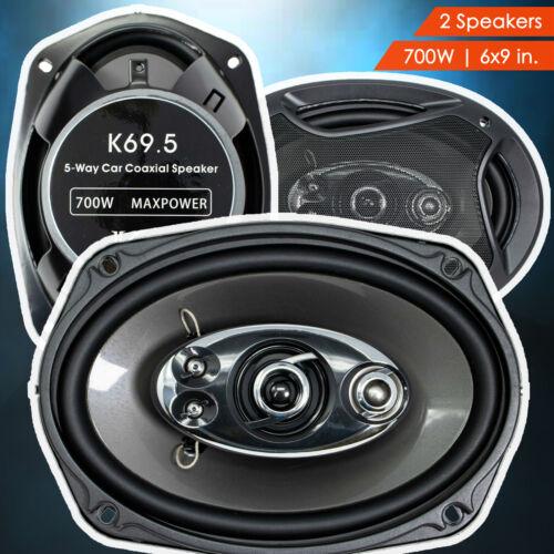 "2x NEW Audiotek K7 6"" x 9"" 5-Way 700 Watts Coaxial Car Audio Speakers CEA Rated"