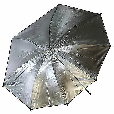 Double-layer Detachable 33'' Studio Flash Soft Diffuser Black Silver Umbrella