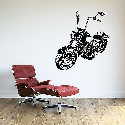 Harley Davidson Room Decor (Motorcycle Wall Decal Biker Vinyl Sticker Room Decor Harley Davidson EXTRA)