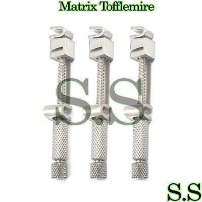 3 Universal Tofflemire Matrix Band Retainers Dental