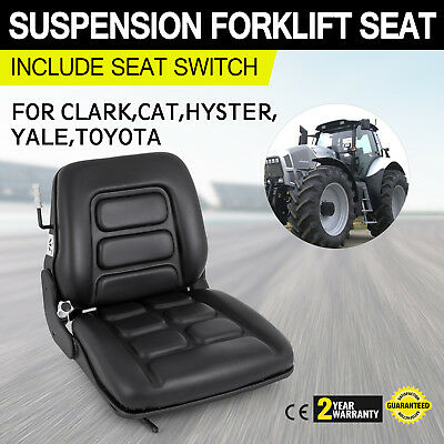 Suspension Forklift Seat With Switch Hyster Clark Baker Toyota Mitsubishi Cat