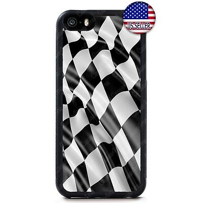 Checkerd Race Flag Hard Rubber Case CoverFor iPhone Xs Max XR X 8 7 6 Plus 5 - Checkerd Flags