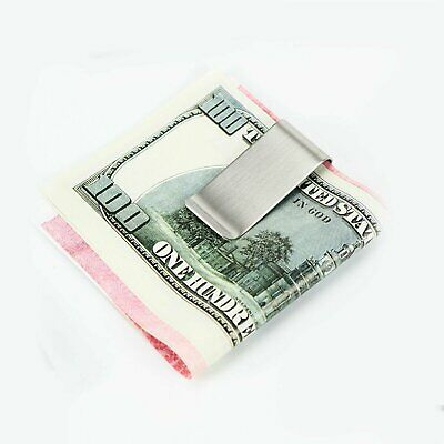 $Slim Clip Double Sided Money Clip Credit Card Holder Wallet New Stainless Steel Clothing, Shoes & Accessories