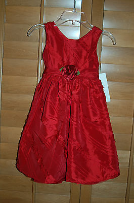 New With Tags Lil Girl Sweet Heart Rose Red Flower Dress Size 5 Beautiful LQQK! - Flower Girl Dresses With Red
