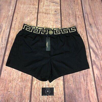 "Versace Greca Swim Shorts Black - Size 6 - 34"" - £195"