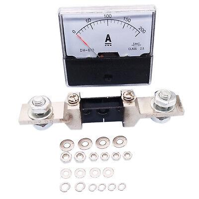Us Stock Analog Panel Amp Current Ammeter Meter Gauge Dh-670 0-200a Dc Shunt