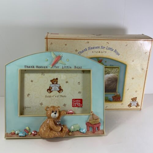 Thank Heaven for Little Boys-Gund- Frame featuring Teddy Bear Plane Toys