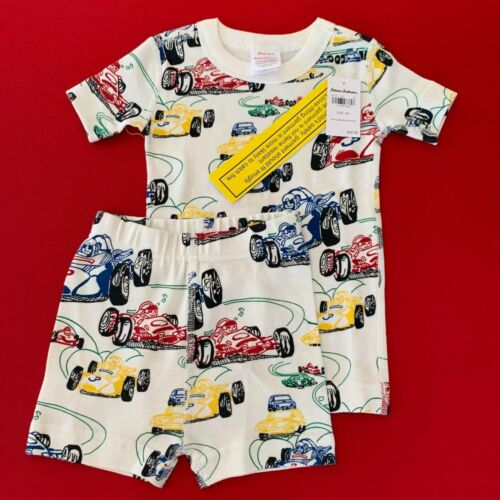 """HANNA ANDERSSON Awesome Baby Boys """"CAR"""" Short Pajama Set. 2 Years, 85 cm. Comfy!"""