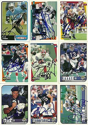 2003 Topps Total KEVIN DYSON Signed Card PANTHERS titan