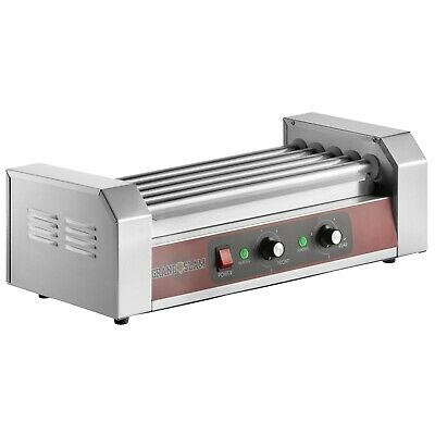 12 Hot Dog Concession Stand Fair Elec Roller Grill With 5 Rollers - 110v 750w