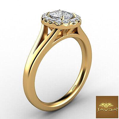 Halo Split Shank French U Pave Cushion Diamond Engagement Ring GIA G VS1 0.7 Ct 6