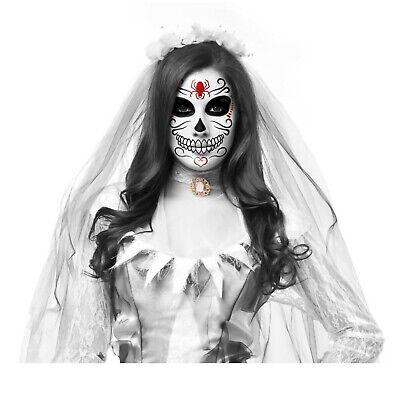Sugar Skull Costume For Men (Adult Mens Womens Sugar Skull DOTD Halloween Holiday Costume Skeleton Face)