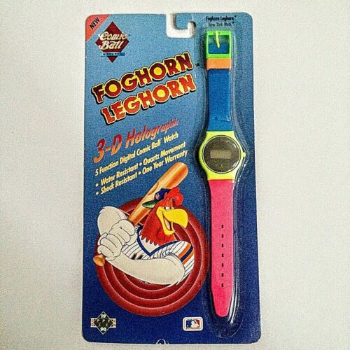 Foghorn Leghorn Holographic Digital Watch Comic Ball 1990 Vintage New York Mets