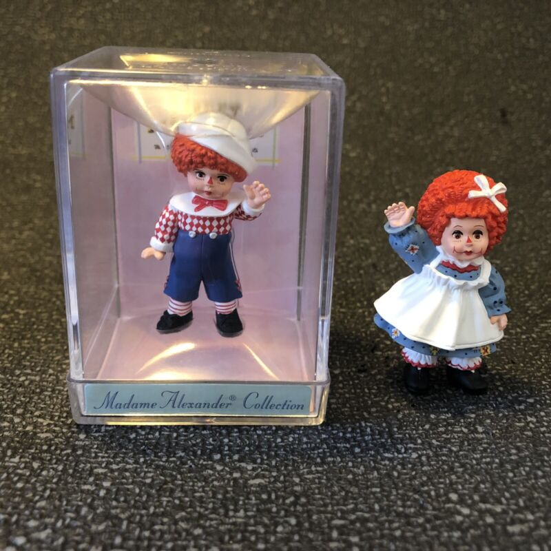 Merry Miniature Hallmark RAGGEDY ANN ANDY Madame Alexander Mini Figurine Billy