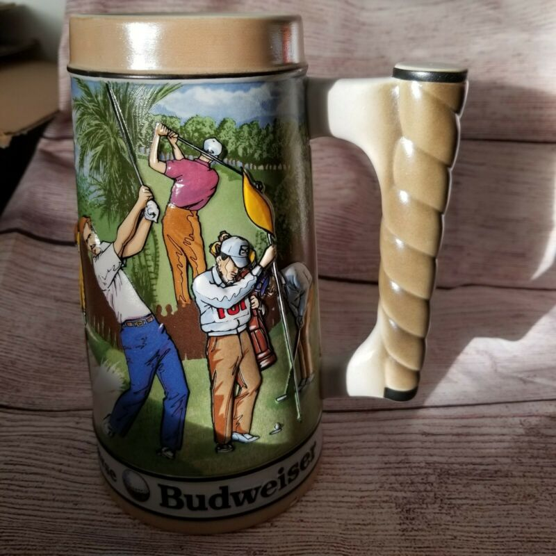 Vintage Budweiser Stein Par for the Course 1992  #32801