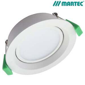 MARTEC GENESIS GIMBLE 12W LED DOWNLIGHT DIMMABLE WHITE 5000K NEUTRAL MLGG5010WD