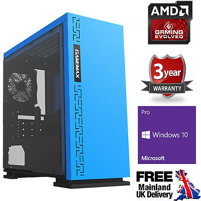 Computer Games - Ultra Fast AMD Quad Core 4.2 8GB 120GB SSD 1TB Gaming PC Computer Windows 10 EB