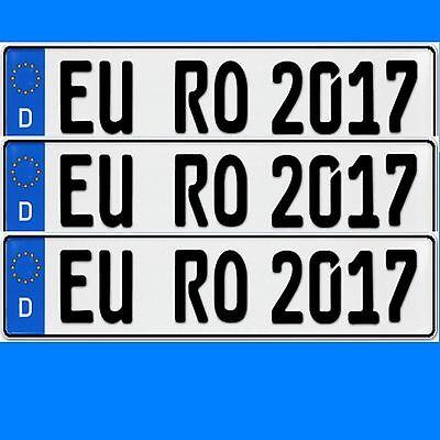 3 x EU KFZ Nummernschilder   Autoschilder Kennzeichen ALLE  AUTOMARKEN