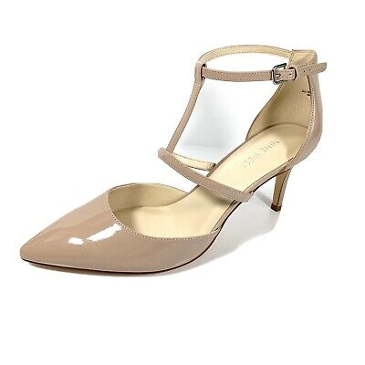 Nine West Marlo 3 Women's Pumps Tan Patent Leather T- Strap Size 11 M New