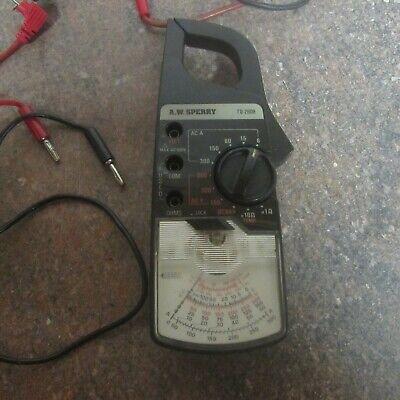 Sperry Td-2608 Snap Around Meter Ammeter Analog Ohm Volt M3