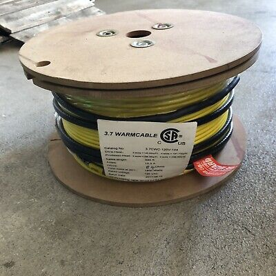 3.7cwc-120v Udg Electrical Radiant Warming Floor Heating Cable 495 Ft Length