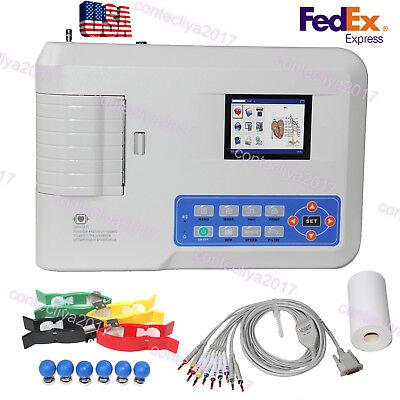 Fda Contec Ecg300g Digital 3 Channel 12 Lead Electrocardiograph Ekg Machine Sw