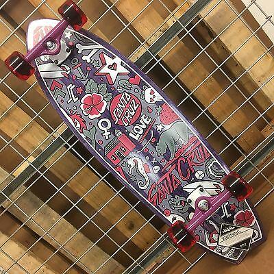 NEW Santa Cruz Doodle Shark Mid Cruzer Complete Skateboard - 9.75in x 32.92in