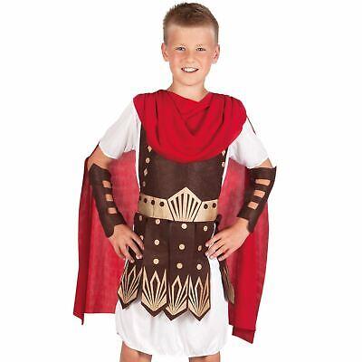 Kind Jungen Gladiator Kostüm Rüstung Umhang Hero Geschichte Griechisch Römisch