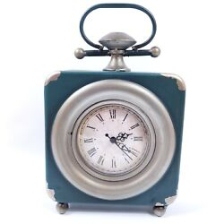 Analog Table Clock 7 x 7 Rustic Retro Vintage Shabby Chic Farmhouse