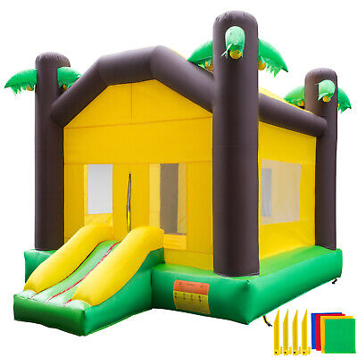 Inflatable Bounce House Kids Jungle Bouncy Castle Jumper House Moonwalk Bouncer for sale  Shipping to Canada