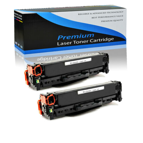 2pack ce410x 305x black toner cartridge