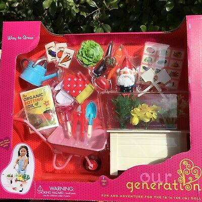 Our Generation Way To Grow Garden Set For American Girl Dolls For 18  Dolls New