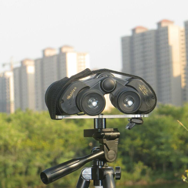 "Universal Binoculars Tripod Adapter Bundled Binocular Acrylic Mount1/4""-20 Screw"