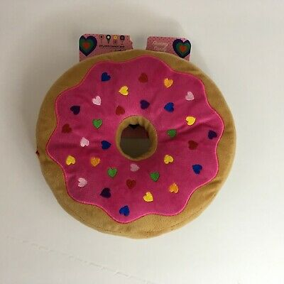 NWT Dylan's Candy Bar Soft Plush Doughnut Donut Pink Frosting Heart Sprinkles (Heart Candy Bars)