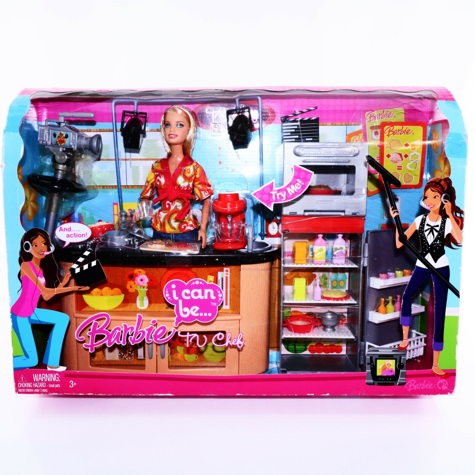 Barbie Career Chef Doll Tv Playset 2008 RARE I Can Be Toys F