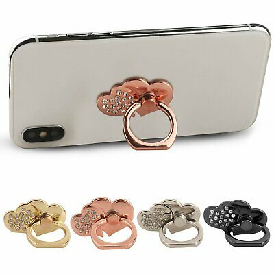 Universal 360 Rotating Finger Ring Stand Holder For Cell Phone DOUBLE HEARTS Cell Phone Accessories