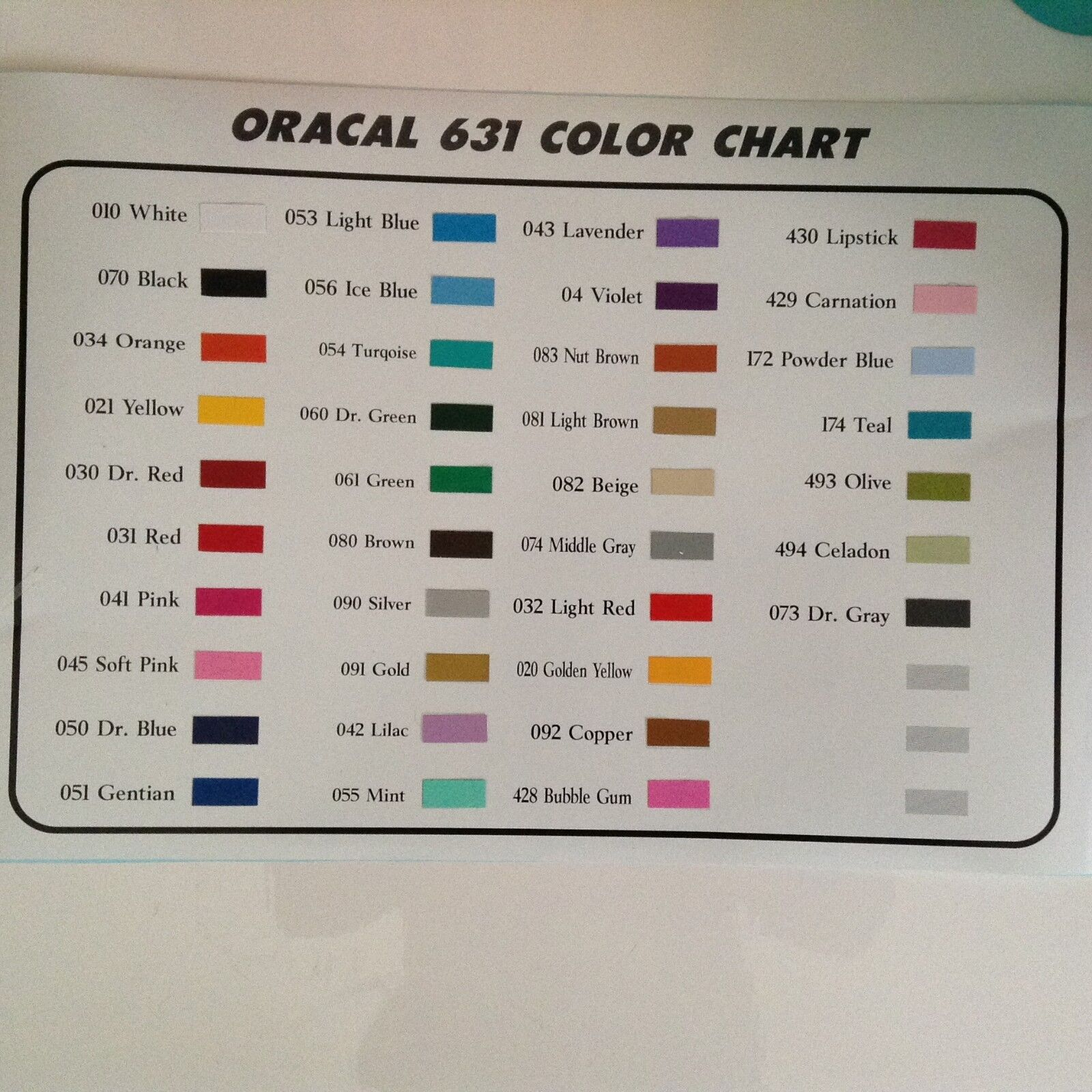 """25 rolls x 2 ft//roll 12/""""  Oracal 631 Matte Vinyl Sign /& Craft    by precision62"""