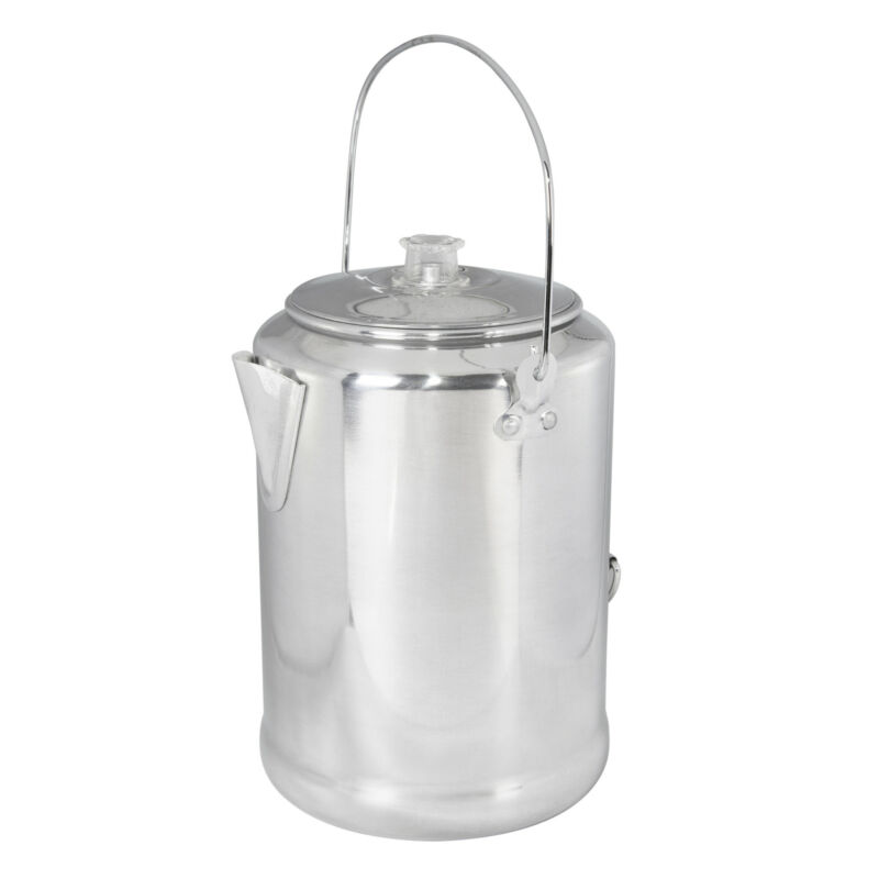 STANSPORT 20 CUP CAMPERS PERCOLATOR COFFEE POT ALUMINUM OUTDOOR CAMPING NEW
