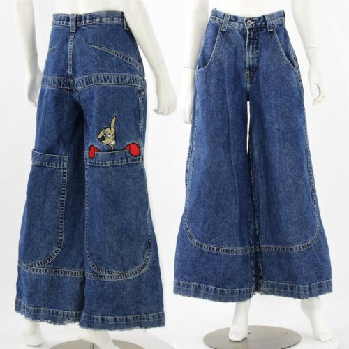 80s Vintage Jnco Dark Wash Kangaroo Jeans Womens 28 x 30
