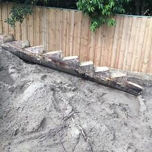 Playground Logs steppers  natural Iluka Joondalup Area Preview