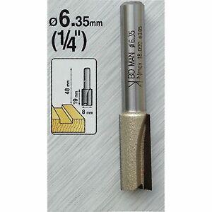 8mm TCT Tungsten Carbide Straight Cut Router Cutter Bit 1/4