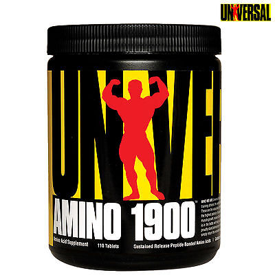 Universal Amino 1900 110 Tablets Bcaa + Essential Amino Acids Anabolic Recovery