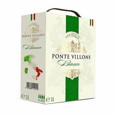 1x Bag-in-Box Italienischer Weißwein lieblich BiB 3L - Ponte Villoni, Italien