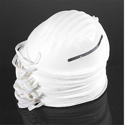 100 NUISANCE DUST MASKS DISPOSABLE MOULDED FACE MASK CLEANING FILTER RESPIRATOR