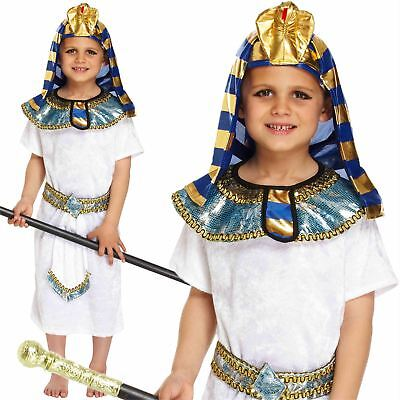 Boys Egyptian Pharaoh King Fancy Dress Book Week Costume Historical Kids