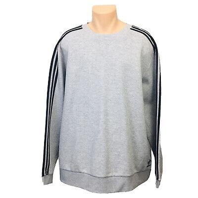 Adidas Pullover Sweater (Men's Size XXL) Gray Sweatshirt