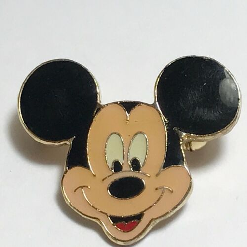Vintage Mickey Mouse Pin Brooch Disney Gold Plated Disneyana Trading
