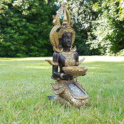 Thai Buddha Deko Figur Teelichthalter Budda Skulptur Feng Shui Statue Glück Joga